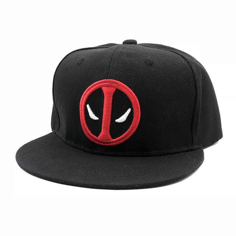 e546bef98f8 ... Fashion Comic Marvel Deadpool Hat Snapback Bone Aba Reta Costumes  Cotton Baseball For Men Women Sports ...