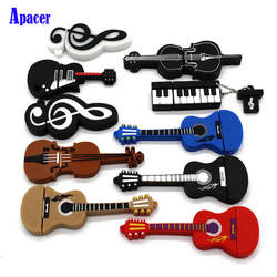 Apacer 10 видов стилей Музыкальные инструменты модель флешки 8 ГБ 16 ГБ 32 ГБ 64 ГБ USB флешка скрипки/пианино/гитары