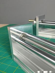 Image 2 - Шаговый электродвигатель NEMA17/23 с ЧПУ, направляющая по оси Z для 3D принтера Reprap, запчасти с ЧПУ, дорожный ЧПУ роутер 170/270 мм, Линейный Привод движения