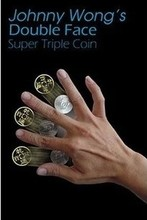 Free Shipping Double Face Super Triple Coin (DVD + Gimmick) - Trick, ,coin magic, magic trick,Close up,fun,accessory,gimmick misers delight pro x from mark mason blue light magic trick bag mentalism close up gimmick accessories