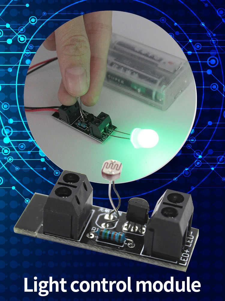 Akıllı ışık kontrol sensörü anahtar modülü ışık sensörü kurulu LED gece için 3V güç kaynağı DIY Robot oyuncak arabalar üretimi çocuk