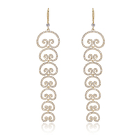 XIUMEIYIZU Luxury Cubic Zirconia Bridal Jewelry Gold And Silver Plated Long Dangle Drop Earrings For Wedding