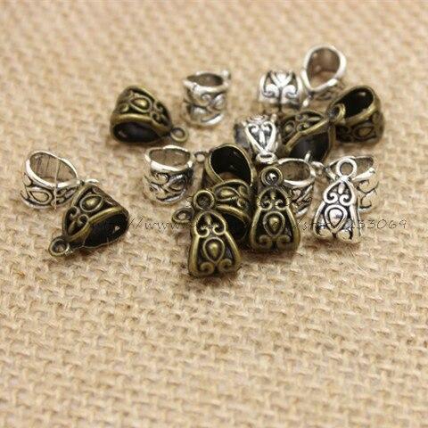 купить Free Shipping two color Hollow Carved Bail Beads 8*8*13mm, 100pcs T0321 по цене 300.55 рублей