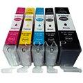 5pk Compatible pgi580 cli581 tinta para Canon PGI 580 PGBK CLI 581 BK/C/M/Y/XL para PIXMA TS8150 TS8151 TS8152 TS9150 TS9155