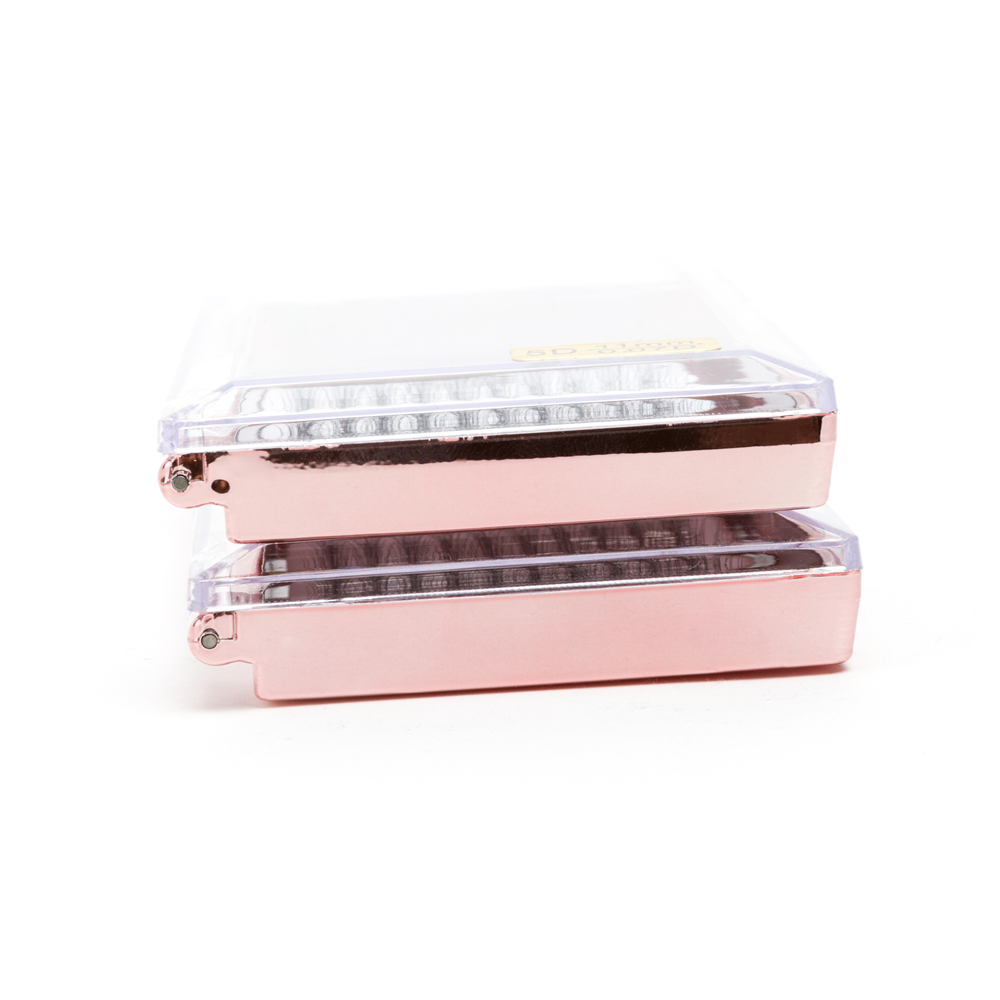 Seashine Rose Gold Box Hohe Qualität 5D Short Stem Russische Volume Lash Verlängerung Natürliche Weichen Einzelne Volumen Kostenloser Versand - 5