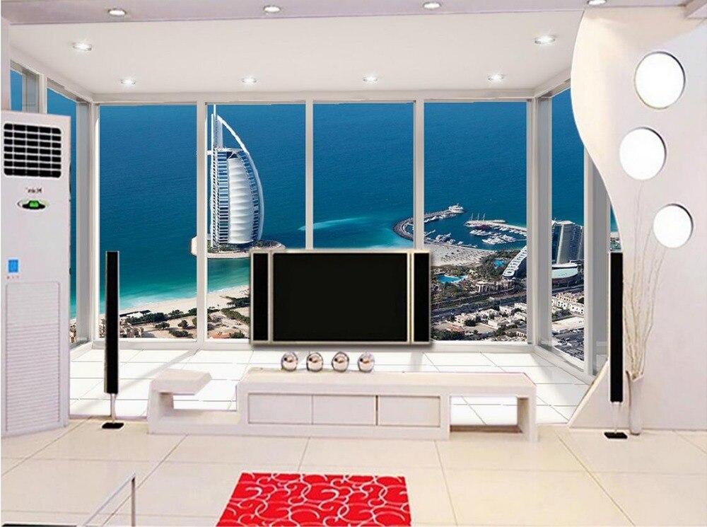 Классический живопись росписи обоев 3d обои Дубай парусный спорт отель этаж балкон самый красивый фон фото 3d обои