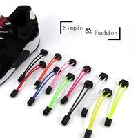 1 Pair Elastic Unsiex Women Men No Tie Locking Shoelaces Trainer Running Athletic Sneaks Shoe Laces Shoelaces