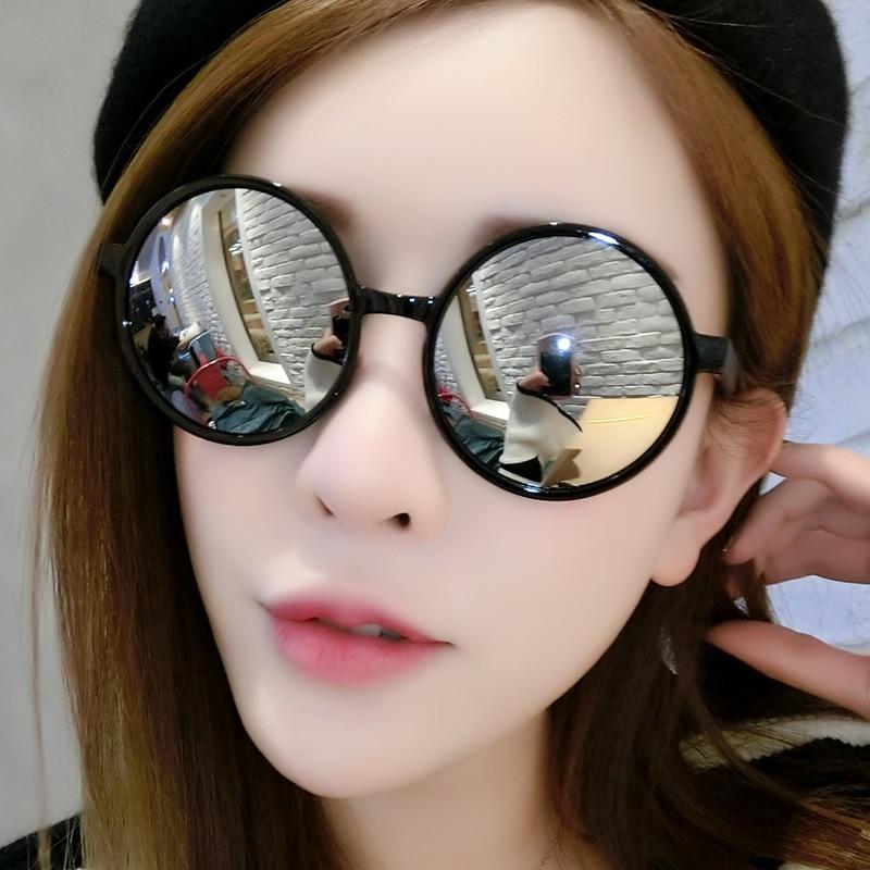 Brand Fashion Unisex Sun Glasses Mirror Coating Mirror Driving Sunglasses Round Male Eyewear For Men Women JH15938
