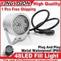 O envio gratuito de 48 LEDs Iluminador Infravermelho IR câmera dome CCTV hd Noite aprimoramento Preencher Visão luz 40 M Lâmpada Securit 850nm 12 V