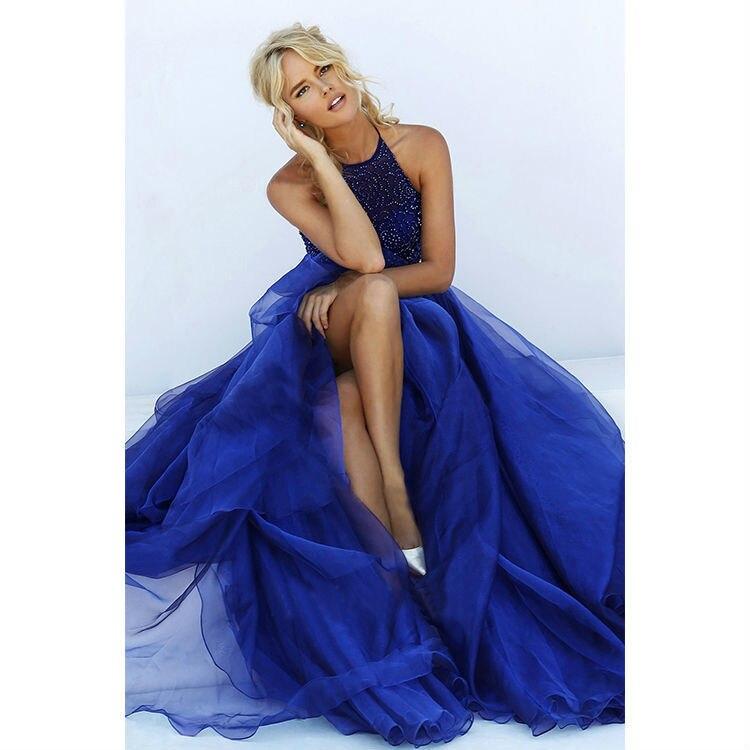 prom dresses long vintage royal blue sexy plus size luxury beading