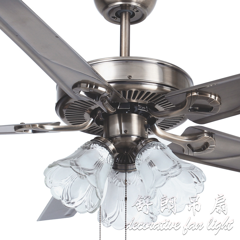 Modern 48 Inch Paint Gold Crystal Ceiling Fans With Lights Dining Room Bedroom Fan Lamp Remote