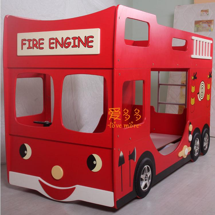 Children S Advanced Level Of Bedroom Furniture Red Fire