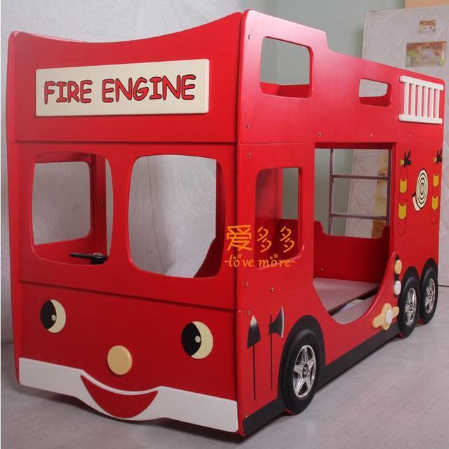 Childrenu0027s Advanced Level Of Bedroom Furniture Red Fire Truck Cartoon Child  Bunk Bed