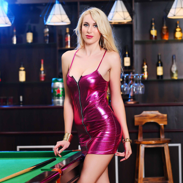 Sexy Hot Women Lmitation Leather Dress Clubwear Sexy Costume Erotic Dress Six Colour Big Size Plus Size 5XL Women