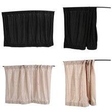 1Pcs/set New Black beige Cotton Fabric Car Auto 50S UV Protection Side Window Curtain Sunshade Set 71 x 47cm