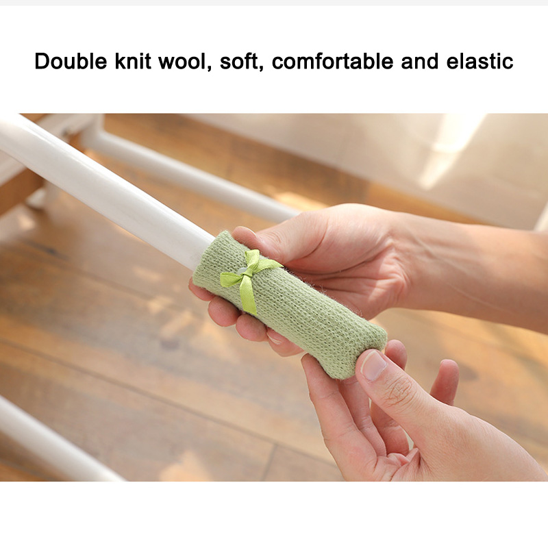 4 Pcs Knitting Table Chair Foot Leg Cover Sleeve Socks Floor Protector Home Dining Room XHC88