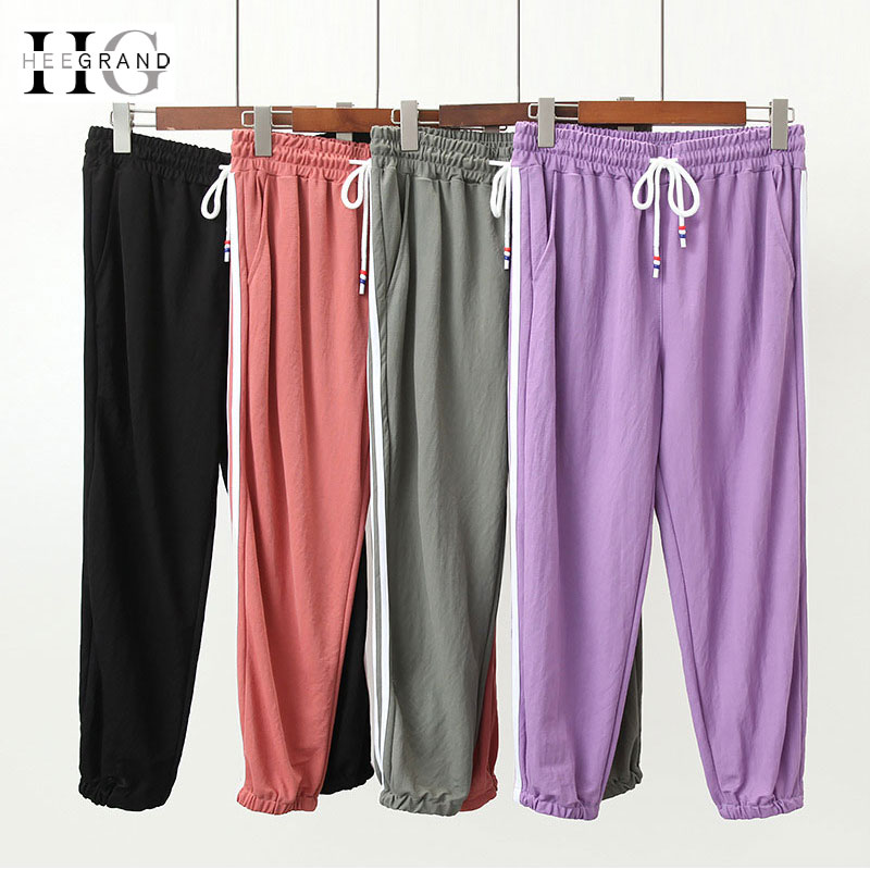 HEE GRAND Women's Candy   Pants   2018 Summer Loose Juniors Harem   Pants   Punk Trousers Elastic Waist Calf Length Women   Capris   WKX458