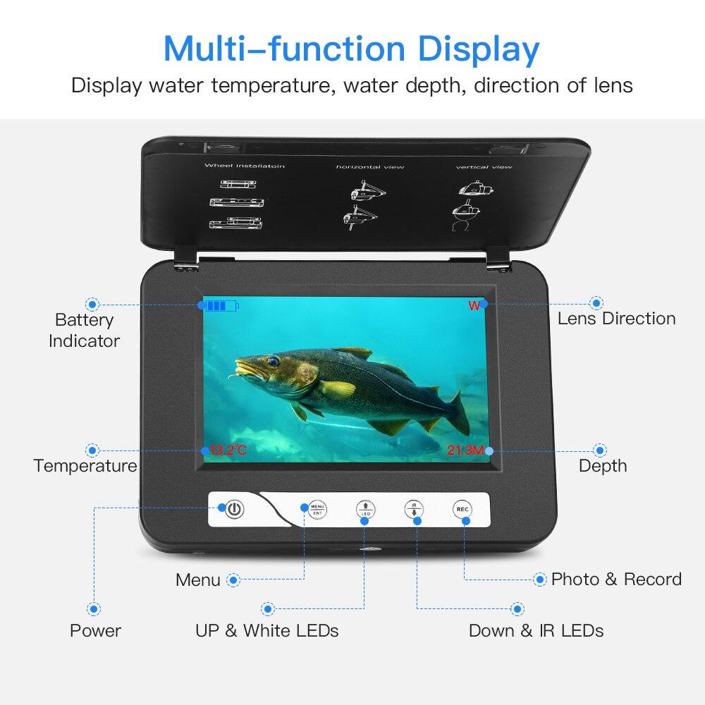 """EYOYO подводный рыболокатор видео камера для рыбалки 1000TVL """" монитор подводный лед рыболовная камера DVR более глубокий рыболокатор"""