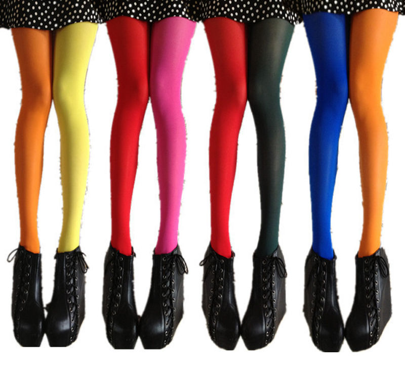 2018 New Arrive Fashion Sexy Women Patchwork Two Colors Tights Stretchy Pantyhose Stockings UK SELLER