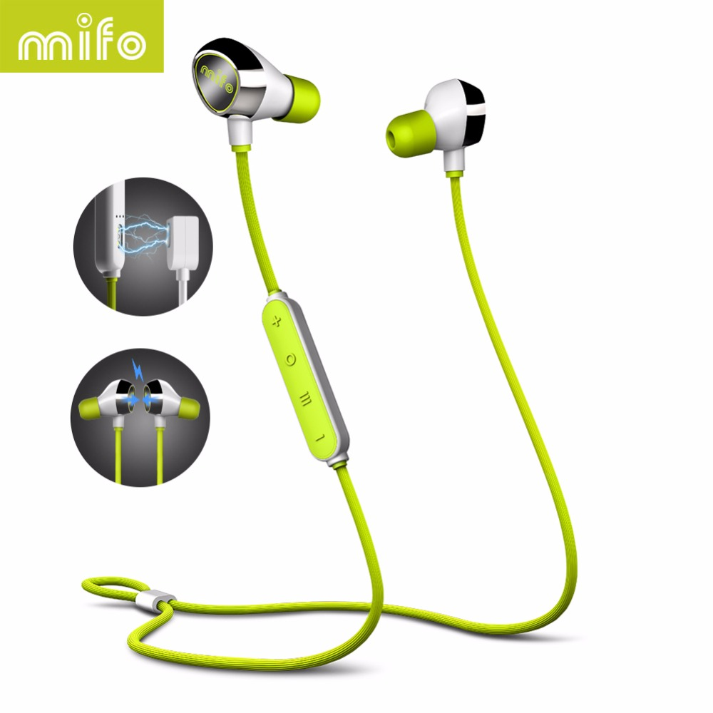 mifo i8 Bluetooth Earphone Magnetic Suction Charging Wireless Headset In-ear Earpiece Sports Stereo Music Earphones For Phones remax bluetooth v4 1 wireless stereo foldable handsfree music earphone for iphone 7 8 samsung galaxy rb 200hb