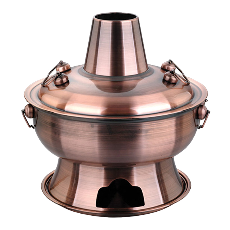 Free shipping 4 5 liter 36cm stainless steel hot pot Chinese Charcoal Mongolian lamb cooker for