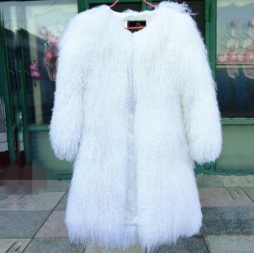 Manteau Moutons Mouton Pelt Taille White Femmes Grande Pleine F1903 Veste Gratuite black Livraison Mongolie De Gilets Fourrure Nouveau Véritable Personnalisé tzxBtF