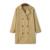 Otoño 2016 nueva moda del todo-fósforo de las mujeres de Solapa doble de pecho chaqueta larga cazadora blusa