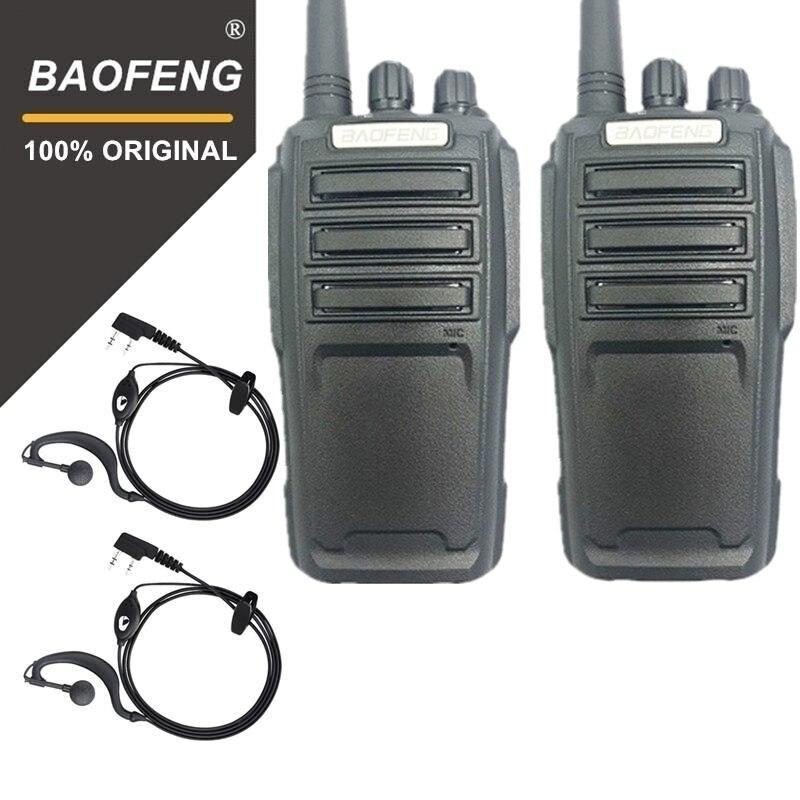2 pcs Baofeng UV-6D Talkie Walkie Longue Portée Radio bidirectionnelle 400-480 mhz UHF Simple Bande De Poche Radio émetteur-récepteur Interphone