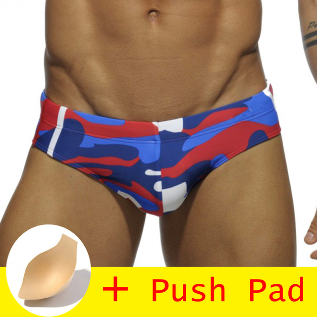 1345ad08d6 17 Styles Brand Swimwear Men Brief With Push Pad Sexy Swimsuit Waterproof Swimming  Trunks For Bathing Swim Shorts Sunga HOT!
