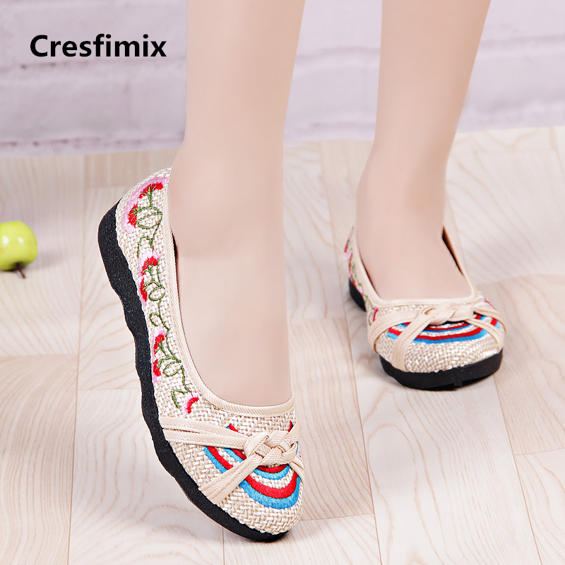 Cresfimix zapatos de mujer women comfortable spring & summer slip on flat shoes lady leisure retro dance shoes street shoes a728 cresfimix zapatos de mujer women casual plus size retro flat shoes lady leisure spring