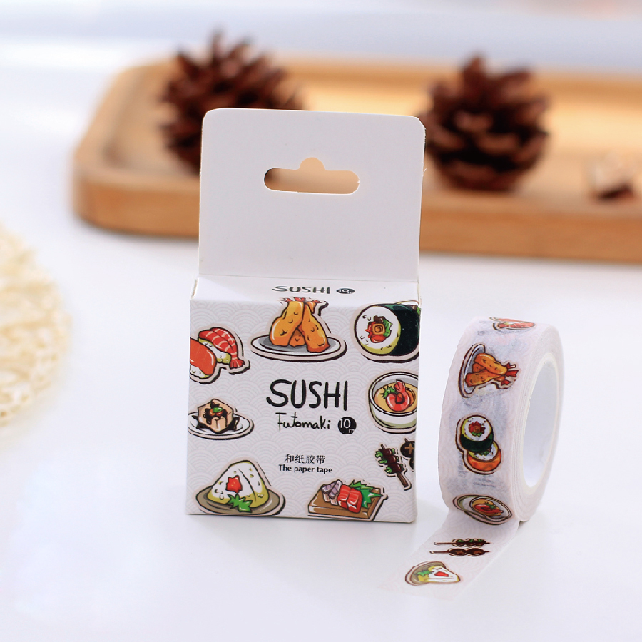 1Box New Yummy Sushi Japanese Washi Tape Decorative Scotch Tape For Scrapbooking Stickers Diy H1152 unbrand diy sushi maker