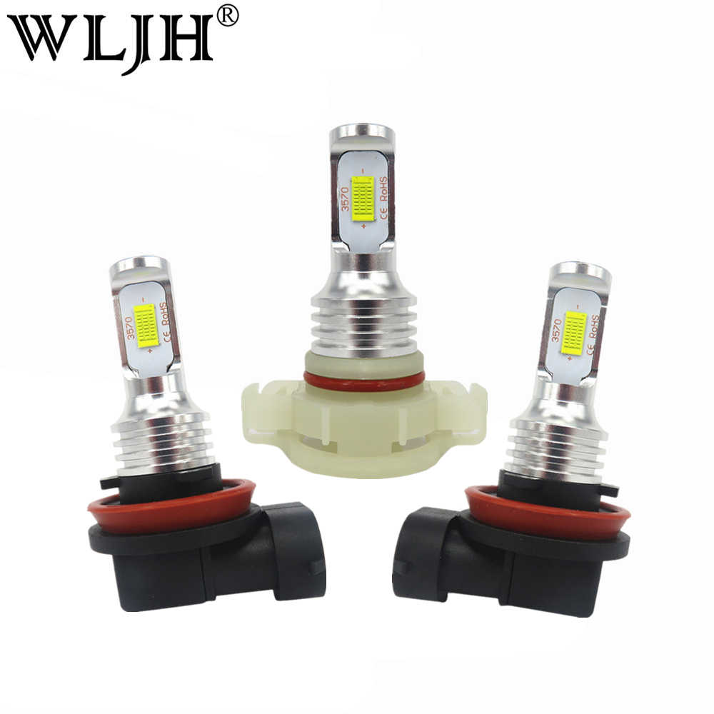 WLJH 2x Canbus Error Free Led H1 H3 H4 H7 H8 H9 H10 H11 H16 9005 9006 880 881 P13W PSX26W Car Fog Driving DRL Light Lamp Bulb
