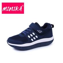 MINIKA Solid Colors Casual Shoes Women Breathable Platform Shoes Women Soft Outsole Comfort Flat Shoes Women Big Size 35-42