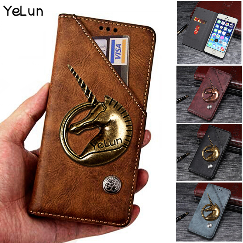best service 90206 0320f Yelun For OPPO A7 Case AX7 6.2 In Cover Luxury Unicorn Wallet Leather Phone  Case For OPPO A7 AX7 CPH1901 Flip Case