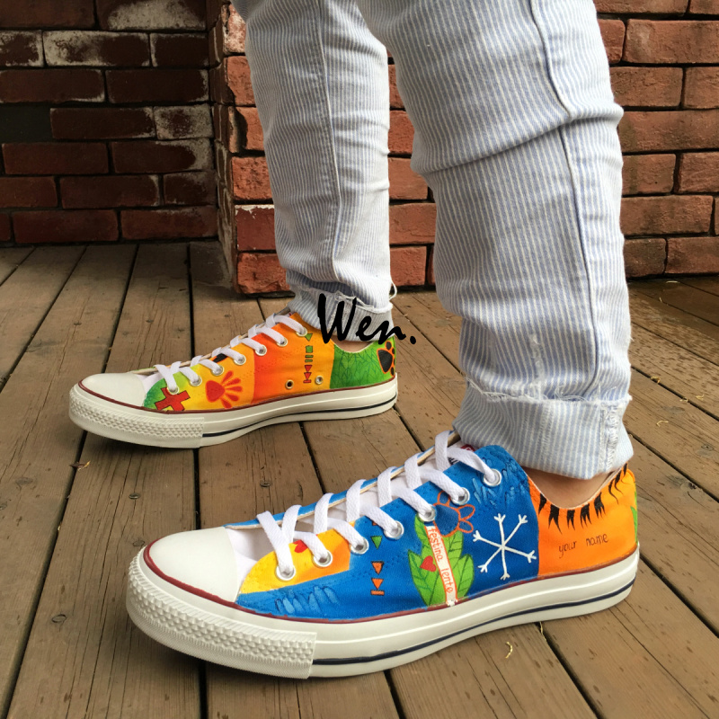 f91cabb062ab ... australia low top women men converse all star colourful shoes ed dog  paw design custom hand