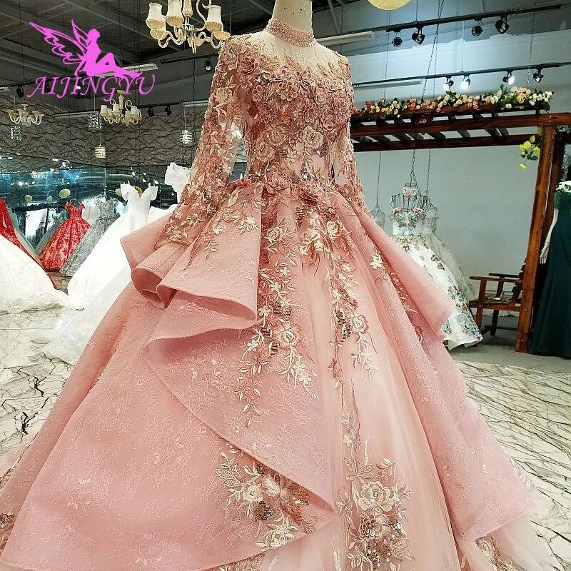 Image 2 - AIJINGYU Ivory Lace Dress Tulle Bridal Gown Long Frocks Store Vintage Korean Modest Gowns Wedding BoutiquesWedding Dresses   -