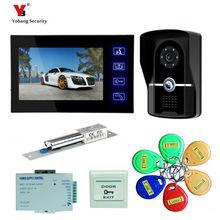 Yobang Security freeship 7″ Recording Video Intercom camera Door Phone System+Outdoor RFID Access Door Camera+Electric Lock