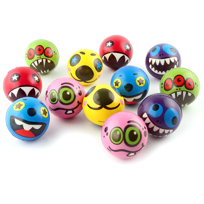 Cartoon Foam Educational Toys Anti Stress Face Ball Cute Ball Soft Sponge Squeeze Toys Autism Mood Relief Healthy Toys For Kids