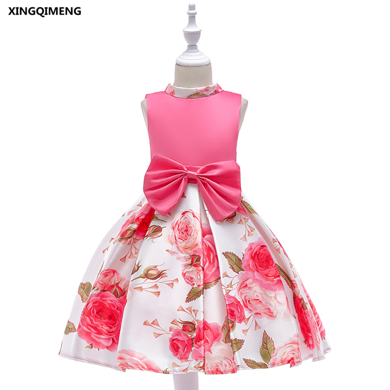 In Stock Rose Red Flower Girl Dress for Weddings 3-10Y Cheap Simple Formal  Dress for Little Girls Short Kids Pageant Gown dc0484c0e49a