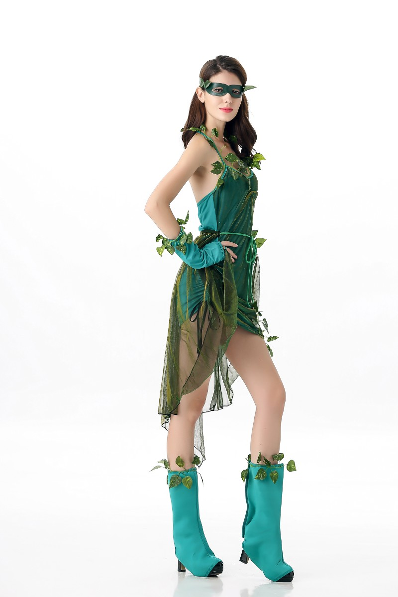 Free Shipping Wizard of Oz Halloween Costumes For Women Elf Princess Dress Elves Flower Fairy Costume Cosplay