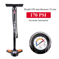 Bicycle Pumps 170PSI Portable Valve Adapter High Pressure Gauge Table Air Supply Inflator Road Mountain Bike Pump