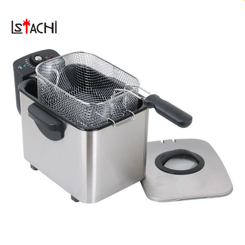 LSTACHi Stainless Steel Single tank Electric deep fryer smokeless French Fries Chicken grill multifunction MINI hotpot oven EULSTACHi Stainless Steel Single tank Electric deep fryer smokeless French Fries Chicken grill multifunction MINI hotpot oven EU