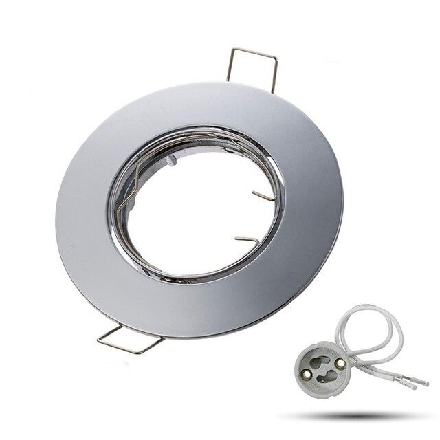 Lampen Leuchte Nickel 50mm 100mm Mr16 Verwenden Sockel Durchmesser Loch Halter Basis 29 Lampe Gu10 Us9 In Led 80mm Decke Sand 28Off einstellbar pVMUSz