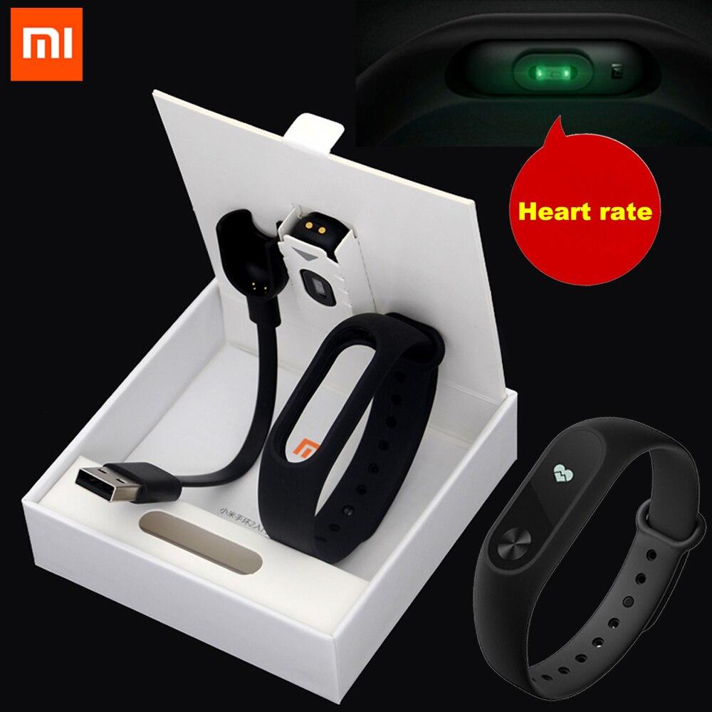 Оригинал Сяо Mi mi Группа miband 2 2 с oled-дисплей Сенсорная панель смарт-сердечный ритм Фитнес Bluetooth браслет