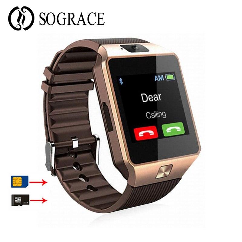 Bluetooth DZ09 Astuto Della Vigilanza Con La Macchina Fotografica Facebook Whatsapp Twitter Sync SMS SIM carta di Tf di Sostegno Smartwatch Per IOS Android PK q18