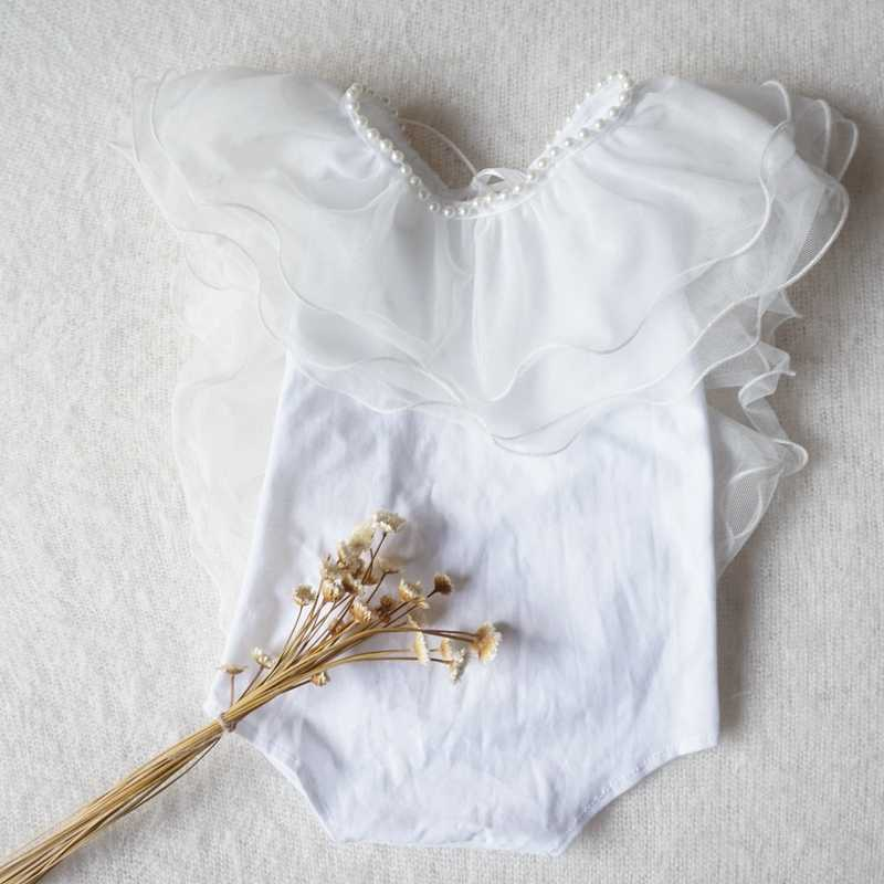 NEW Baby Girl Clothing Lucy Child Cotton Ruffled Rompers Newborn Photography Props Christmas Gift Baby Photography Dress