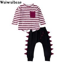 Waiwaibear Baby Kids Sets Baby Long-sleeved Striped  T-shirt Tops+Pants 2PCS Sets Baby Girls Outfits Clothes Set CC1 стоимость