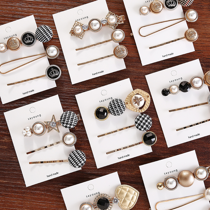 Купить с кэшбэком 3Pcs/Set Pearl Hair Clips Swallow Gird Women Hairpins Barrette Bobby Pins Hairgrip 2019 Newest Hair Clip For Girls Accessories