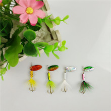 Sequin Spoon Metal wobble Fishing Lures Spinner Baits CrankBait Bass wobbler Tackle Hook for perch mandarin fish striped Catfish
