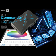 ALSEYE Computer Fan controller, Bluetooth APP Fan Speed and RGB Controller for Gaming PC, 14 Channels PC Cooling System Control